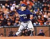 Hernan Perez Autographed Photograph - 8x10 W coa - Autographed MLB Photos