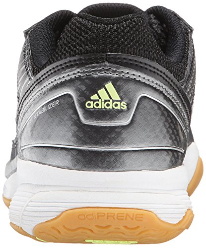 Adidas Performance voleo Asalto de zapatos, negro / plata / congelado Amarillo, 5 M US Black/Silver/Frozen Yellow
