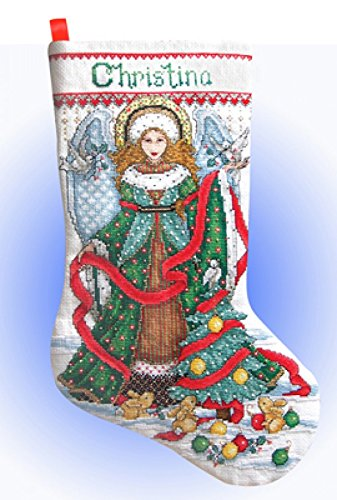 Design Works Counted Cross Stitch Kit Christmas Angel - Angels Stocking
