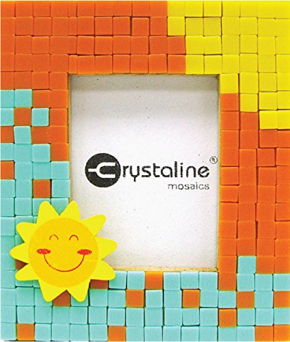 Crystaline Mosaic DIY Mini Table Top Picture Frame Kit - Sunshine theme for small photo (1.5