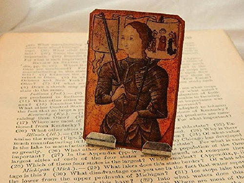 Joan of Arc Portable Altar Meditation Altar Prayer Devotion Desk Accessory by Sarah Collins Studio