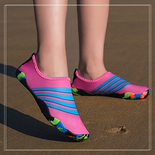 Zapatos Vadeando Adulto El Estera Zapatos Barefoot Suaves Zapatos Shoes JUNHONGZHANG Snorkel Buceo Zapatos Calzados Yoga Antideslizante Gules Natación Playa wqzXPIp
