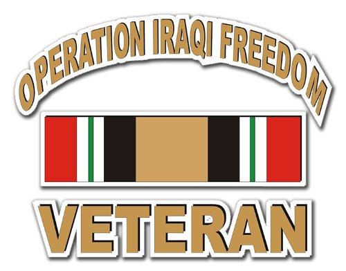 Military Decals Operation Iraqi Freedom Veteran Decal Sticker 3.8