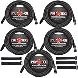 Pig Hog PHM30 30 Foot (5-pack) XLR Microphone cables w/FREE EOS Supply Cable Straps