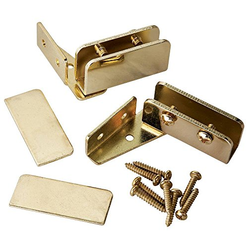 Glass Door Pivot Hinge - Brass (Pair)