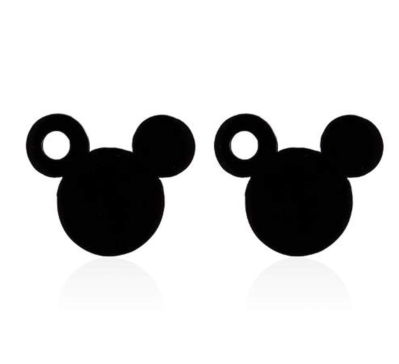 Stainless Steel Mickey Jewelry Mouse Stud Earrings Women Girls Kids Cartoon Castle Ear Studs Fashion Mini Pendients,Ged056