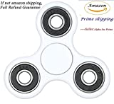Image of Prime Only Fidget Spinner High Speed Stainless Steel Bearing ADHD Focus Anxiety Relief Toys-(White-Black)