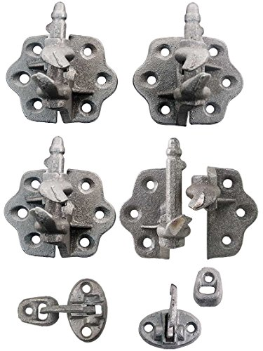 Set Of Clarks Tip Cast Iron Shutter Hinges With 3 14 Throw Shutter Hardware