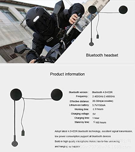 sci OBEST Cuffie per casco da moto Bluetooth 5.0 con microfono a mani libere per moto Cuffie anti-interferenza Controllo chiamate microfono