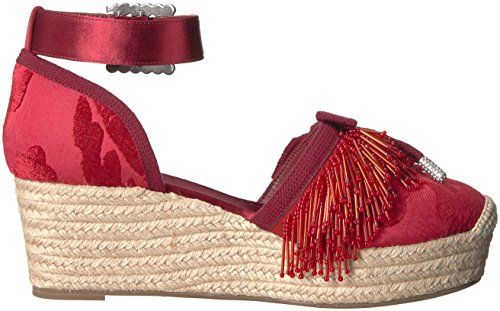 sale manchester great sale Marc Jacobs Women's Maggie Pompom Platform Espadrille Wedge Sandal Red genuine cheap price eVc3fcBWH