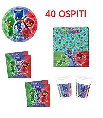 arcobalenoparty - Super pigiamini Kit 40 visitas cumpleaños ...
