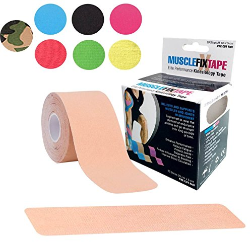 Beige MUSCLE FIX Kinesiology Recovery Sports Athletic Injury