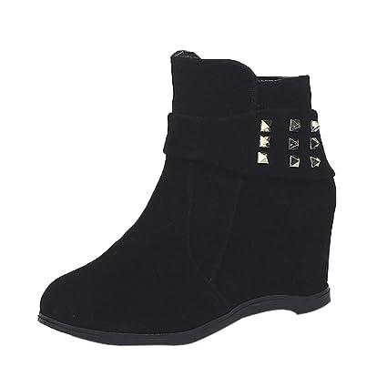 Casual botines mujer elegante otoño,Sonnena ❤ botas de tacón alto de cuña con
