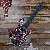 WWQY Wall Decor Metal Retro Guitar Led Lights Random Color