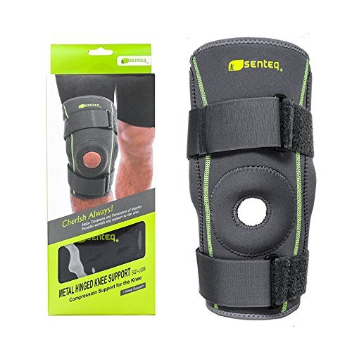 SENTEQ SQ1-L005 L Hinged Knee Brace, Medical Grade and FDA Approved, Breathable Neoprene Knee Brace Provides Support/Relieves Patella Tendonitis, Stabilize ACL/LCL Ligament and Arthritic Pain by SENTEQ (Image #4)