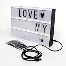 H&O DIY Alphabet Puzzle LED Light Box Creative Gift Birthday Present Shiny Love Couple Gift Wedding Indoor Wall Outdoor Decoration