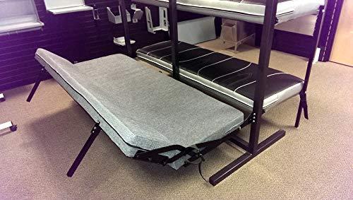 Surprising Rb Components Folding Sofa Sleeper 58 Inch Black Vinyl Creativecarmelina Interior Chair Design Creativecarmelinacom