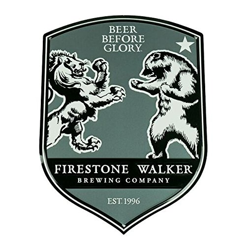 Firestone Walker Brewing Company - Lion Vs. Bear Metal Bar Sign - Fw Tacker (Best India Pale Ales)