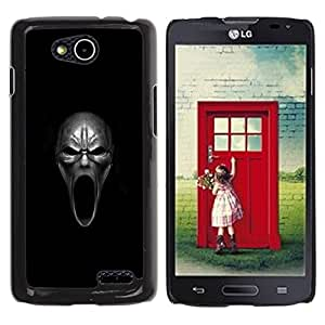 CASER CASES / LG OPTIMUS L90 / D415 / Evil Howl Skull - Goth / Delgado Negro Plástico caso cubierta Shell Armor Funda Case Cover