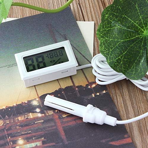 Jullyelegant Thermom/ètre num/érique LCD Professionnel Mini Hygrom/ètre Humidit/é Temp/érature M/ètre Capteur daffichage num/érique LCD int/érieur Blanc
