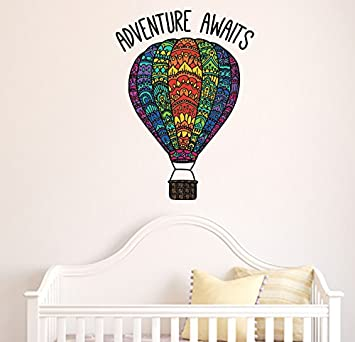 Amazoncom Patterned Hot Air Balloon Adventure Awaits Quote