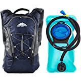 Hydration Backpack with 2 Liter Water Bladder Fits Men & Women