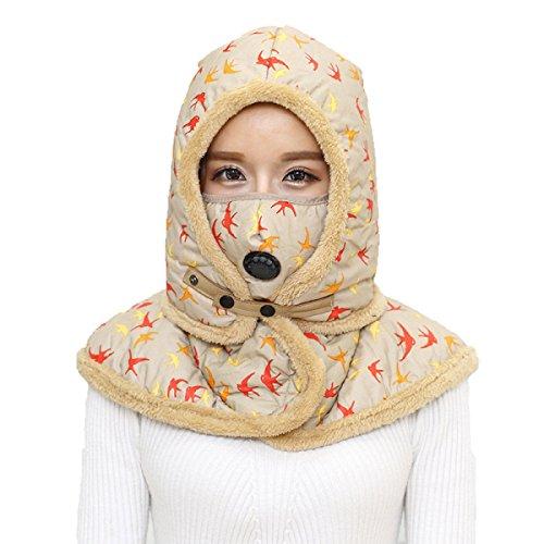 SOOCO Mens Winter Warm Bomber Hat Máscara A Prueba De Viento Winter Ear Flap Unisex Ushanka Para El Esquí De Patinaje Hiking Yellow