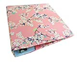 Floral Planner Binder Cover in CHERRY BLOSSOMS Fabric, 2''-3'' Wide 3 Ring Binder Cover, Planner Binder Accessories, Recipe Binder Cover, Stretchable