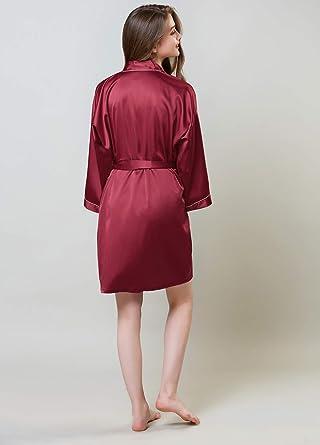 Accappatoi Corti Mogao Caves Abito in Raso per Donna Vestaglie in Kimono per Donna Tinta Unita
