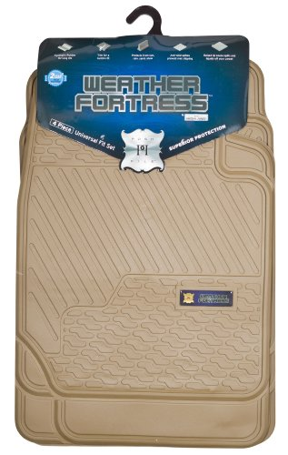 Highland 4447900 Weather Fortress Tan Synthetic Rain Floor Mat - 4 Piece by Highland (Image #1)