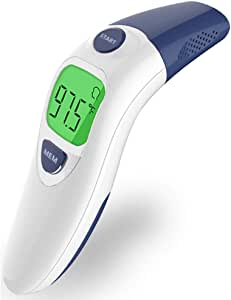 Hobest Baby Thermometer, Digital Clinical Infrared Forehead and Ear Thermometer for Toddler Infant Kids Children Adult with Fast Accurate Fever Indicator