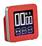 Cook N Home Touch Screen Digital Kitchen Timer, Red by Cook N Home