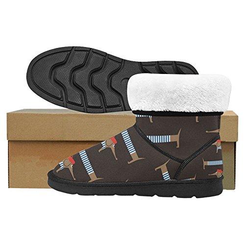 InterestPrint Womens Snow Boots Unique Designed Comfort Winter Boots Multi 3 wvR1hwu