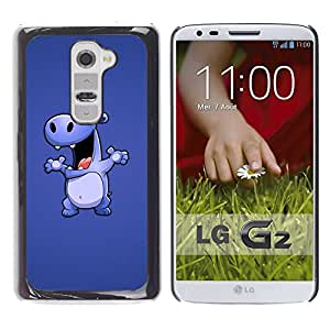 Impact Case Cover with Art Pattern Designs FOR LG G2 Hippo Drawing Cartoon Big Animal Dance Betty shop