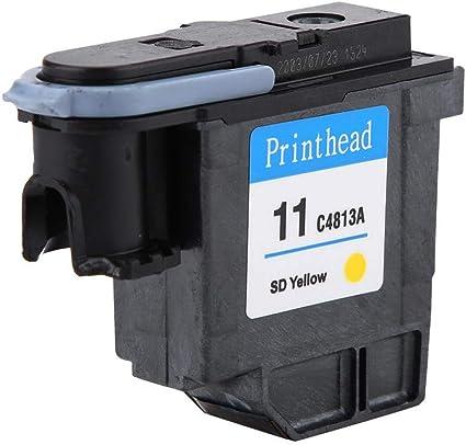 Mugast Cabezal de impresión, Cabezal de impresión de Colores Naturales Cabezal de impresión Impresión Suave Sin Atascos de Papel Cabezal de impresión para HP 500 510 Serie 800 (C4813A): Amazon.es: Electrónica