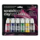 Ampersand Claybord/Scratchbord Ink Set Of 6, Multi,