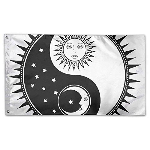 ZMLSJY Yin Yang Moon And Sun 3x5 FT Home Garden Flags Polyes