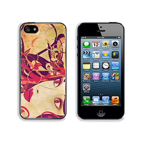 Liili Premium Apple Iphone 5 Iphone 5S Aluminum Backplate Bumper Snap Case Image Id 21545534 Grunge Art Colorful Illustration Of Woman Face With Autumn Floral