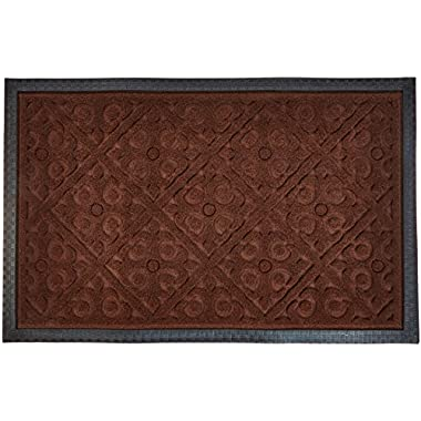 Alpine Neighbor Door Mat | Washable Indoor/Outdoor Low Profile Doormat | Entrance Rug Floor Mats for Front Outside Doors Patio Grass Snow Scraper Clean Decor Rubber Shoes Doormats Entry Carpet Turf Absorbent Entryway Garage Water Rugs (Dark Brown)