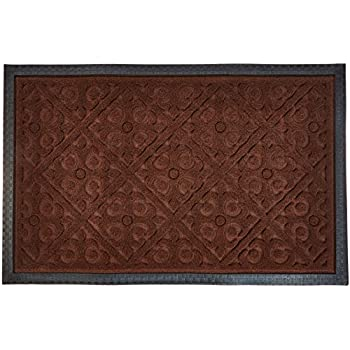 Alpine Neighbor Door Mat | Washable Indoor/Outdoor Low Profile Doormat With  Fleur De