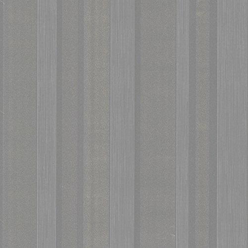 Beacon House 493-ITB036 Amira Silver Horizontal Multi Stripe Wallpaper, Beige