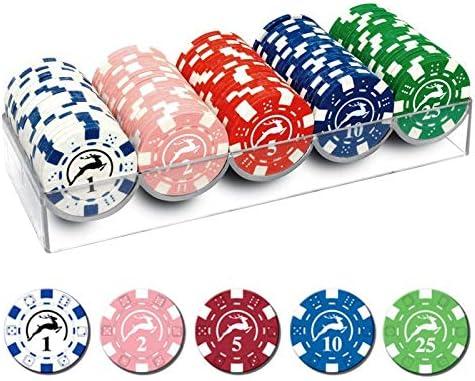 100 jetons de poker Aucune valeur 10g par jeton couleur al/éatoire envoy/ée Id/éal pour les jeux de cartes de casino ou les marqueurs de mariage // f/ête 1 bo/îte de 100 jetons de la m/ême couleur