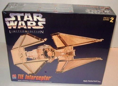 - Star Wars Limited Edition TIE Interceptor Gold Tone Model Kit