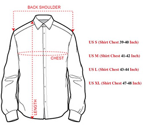 Sportrendy Men's Slim Fit Long Sleeves Casual Button Down Dress Shirts JZS041