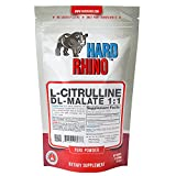 Hard Rhino L-Citrulline DL-Malate 1:1 Powder, 125 Grams (4.4 Oz), Unflavored, Lab-Tested, Scoop Included For Sale