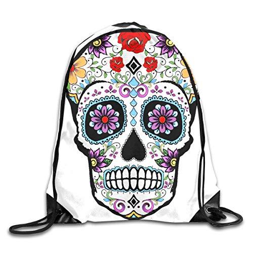 Drawstring Backpack Bag Image Gallery Sugar Skull Rucksack For Gym Hiking -