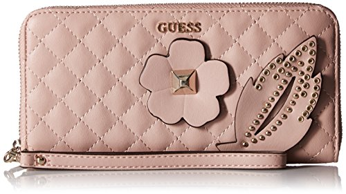 GUESS Stassie Pink Large Zip Around, Cameo