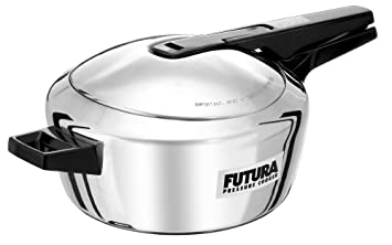 Hawkins Futura Stainless Steel Pressure Cooker, 4 Litres (F41) Pressure Cookers at amazon