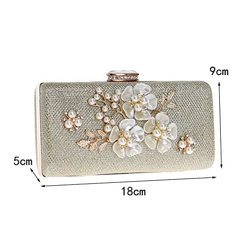 Evening Bag Diamonds Purse Clutch Handbags Bags TuTu Party Shell Women Flower Black Sequined Wedding Small fqxWtZYwI