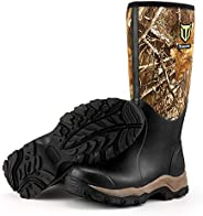 "TideWe Hunting Boots for Men, Insulated Waterproof Durable 16"" Men's Warm Hunting Boot, 6mm Neoprene"